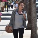 Hilary Duff – Leaving a gym in Studio City
