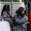 Naya Rivera is spotted filming a unknown show in West Hollywood, California on January 24, 2017