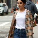 Vanessa Hudgens in a Burberry Trench Coat out in New York City - 454 x 1035