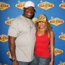 Michael Clarke Duncan and Vanessa Bosele