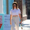 Ashley Tisdale – Heading to a nail salon in Studio City