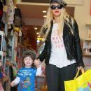 Christina Aguilera's Mother-Son Fun