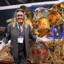 Nicko McBrain interacts with fans at NAMM Show 2018 at the Anaheim Convention Center on January 25, 2018 in Anaheim, California