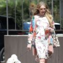 Kathryn Newton with her dog in Beverly Hills