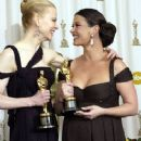Nicole Kidman and Catherine Zeta-Jones At The 75th Annual Academy Awards (2003) - Press Room - 236 x 347