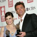 Idina Menzel and Hugh Jackman At The 58th Annual Tony Awards - Press Room (2004) - 311 x 465