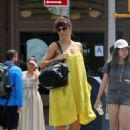 Helena Christensen in Yellow Dress – Out in New York