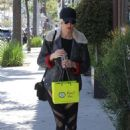 Kimberly Stewart in Tights – Shopping in Beverly Hills