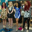 Little Mix appeared on Styled To Rock and challenged designers to make them outfits that reflect their individual style for a photo shoot - 425 x 392