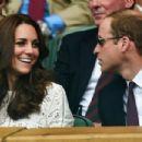 Prince William Windsor & Kate Middleton - Wimbledon: Day 9 (July 2, 2014)