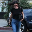 Courteney Cox – Leaving a nail salon in Beverly Hills