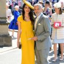 George Clooney and Amal Alamuddin :  Prince Harry Marries Ms. Meghan Markle - Windsor Castle - 411 x 600
