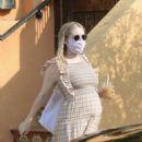 Emma Roberts – Shows her baby bump in Los Angeles