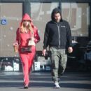 Ashley Benson in Red Tracksuit – Out in LA - 454 x 303