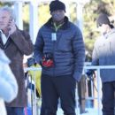 Seal spends the day with his kids watching them ski at the Mammoth Mountain Resort in Mammoth, California on December 28, 2014