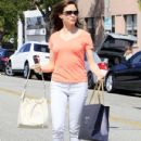 Rose McGowan ran some errands today, stopping at Byron and Tracey Salon and Madwell to do some shopping in Beverly Hills, California on June 14, 2012