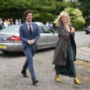 Malin Akerman – Arriving at Kit Harington and Rose Leslie wedding in Scotland
