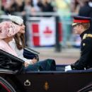 Prince Windsor and Kate Middleton - Queen Elizabeth II's Birthday Parade