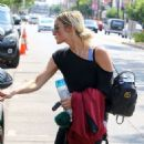 Ashlee Simpson – Leaving Trace Anderson gym in Studio City