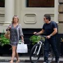 Christine Taylor and Ben Stiller – Out in New York City - 454 x 572