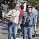 Mandy Moore and husband Ryan Adams shopping at Barnes and Noble in West Hollywood, CA (August 4) - 454 x 643
