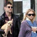 Ashley Olsen and boyfriend Justin Bartha were spotted out in the West Village in New York City on Friday afternoon (April 16 2010).