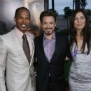Jamie Foxx, Robert Downey Jr. & Catherine Keener . DreamWorks Pictures presents The Los Angeles Premiere of THE SOLOIST held at the Paramount Theater . Photo by Alex J. Berliner©Berliner Studio/BEImages