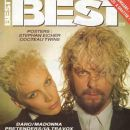 David Stewart, Annie Lennox - BEST Magazine Cover [France] (November 1986)