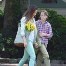 """Hilary Swank on the Wilmington set of her new movie project """"Martha & Mary"""" (July 11)"""