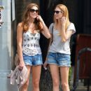 Ashley Greene walking with a friend in East Village, New York City (August 24)
