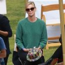 Charlize Theron at a school event in Studio City