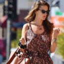 Alessandra Ambrosio in Jumpsuit – Out for lunch in West Hollywood
