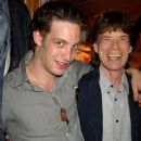 James and Mick Jagger pose backstage following ''Lone Star & PVT. Wars'' at the King's Head Theatre on September 5, 2007 in London, England - 386 x 594