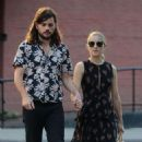 Dianna Agron with her husband Winston Marshall in New York