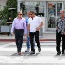 Sylvester Stallone goes for a stroll with friends in Beverly Hills on April 6, 2016 - 454 x 326