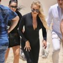Pamela Anderson – Films Ultra Tune TV ad on Gold Coast Beach in Queensland