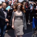 Jessica Chastain Leaves hotel Martinez in Cannes - 454 x 647