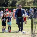Ben Affleck spotted at his daughter  soccer game on Saturday April 1st, 2017 in Santa Monica, CA - 454 x 346