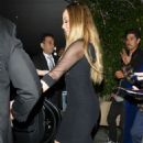 Mariah Carey in Black Dress at a restaurant in Beverly Hills