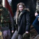 Eleanor Tomlinson – Filming scenes for the upcoming Sky Drama Intergalactic in Cheshire
