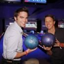 Bradley and Drew playing bowling and celebrating the 23rd Anniversary of The Bold and The Beautiful
