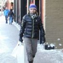 Matt Bellamy does some last minute Christmas shopping on Christmas Eve in Aspen, Colorado on December 24, 2014