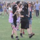 Vanessa Hudgens and Austin Butler at the Coachella Valley Music and Arts Festival in Indio, California (April )