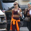 Hailey Bieber – Leaves a dance studio in West Hollywood