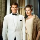 Lois Maxwell and Roger Moore