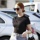 Madelaine Petsch – carries a Prada purse while shopping in LA - 454 x 642