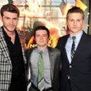 Josh Hutcherson, Liam Hemsworth, and Alexander Ludwig, who all appeared on New.Music.Live. earlier in the day, stepped out for the event to promote their new film and mingle with the fans