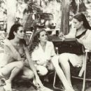 Martine Beswick, Luciana Paluzzi and Claudine Auger on the set of Thunderball - 454 x 363