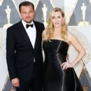 Leonardo DiCaprio and Kate Winslet At The 88th Annual Academy Awards (2016) - Arrivals - 454 x 520