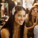 Adriana Lima- Versace - Backstage - Milan Fashion Week SS17